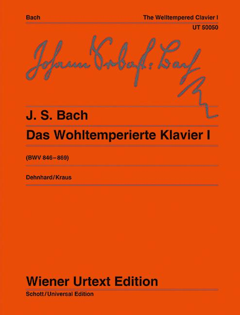 Das Wohltemperierte Klavier  BWV 846 - 869 / Nach dem Autograf und Abschriften  Walther Dehnhard  Taschenbuch  Deutsch  1977 - Dehnhard, Walther