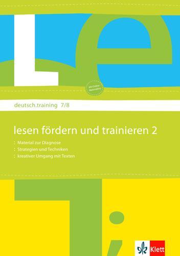 deutsch.training 7. und 8. Klasse. Lesen Fördern und Trainieren 2  Diagnostizieren und individuell Fördern  Broschüre  deutsch.training  Deutsch  2008