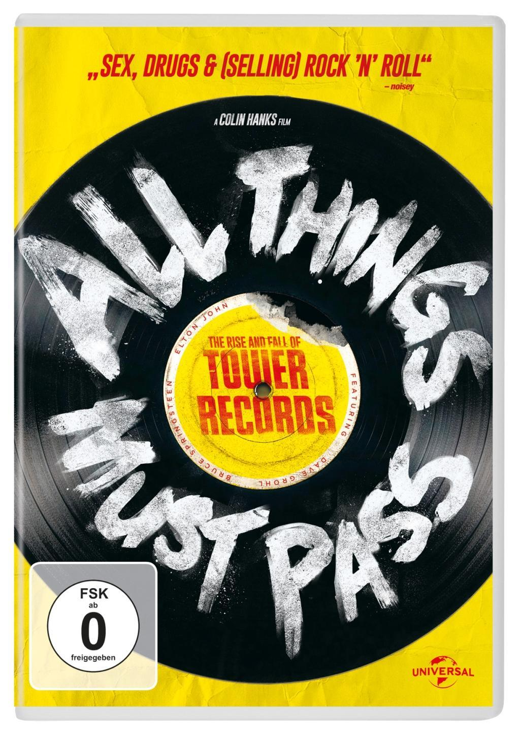 All Things Must Pass - The Rise and Fall of Tower Records  Steven Leckart  DVD  Deutsch  2015