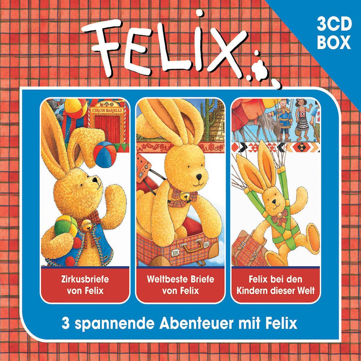 Felix Hörspielbox 2  Zirkusbriefe von Felix / Weltbeste Briefe von Felix / Felix bei den Kindern dieser Welt  Annette Langen (u. a.)  Audio-CD  3 Audio-CDs  Deutsch  2010 - Langen, Annette