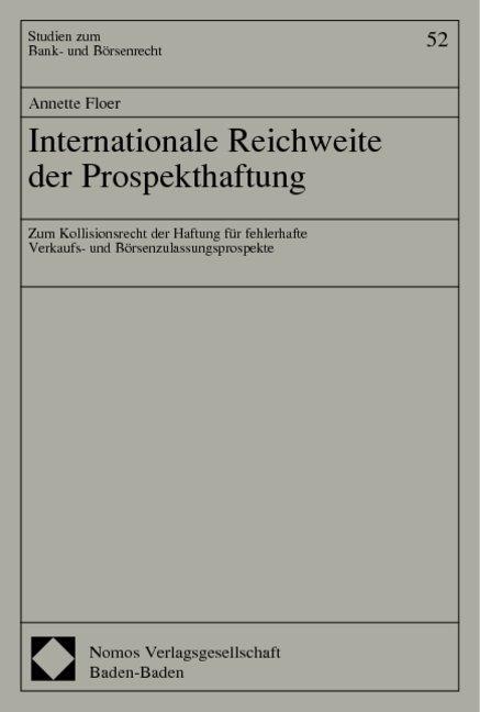 Internationale-Reichweite-der-Prospekthaftung-Annette-Floer-Taschenbuch-Deutsch
