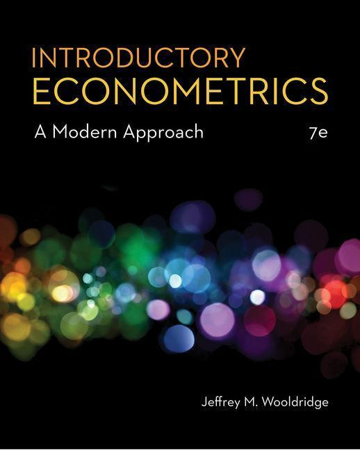 Introductory Econometrics  Jeffrey Wooldridge  Buch  Englisch  2019