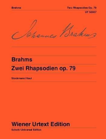 Zwei Rhapsodien  Nach dem Autograph der Stickvorlage und dem Originaldruck. op. 79. Klavier.  Bernhard Stockmann  Broschüre  Urtextausgabe (Broschur)  Deutsch  2021 - Stockmann, Bernhard
