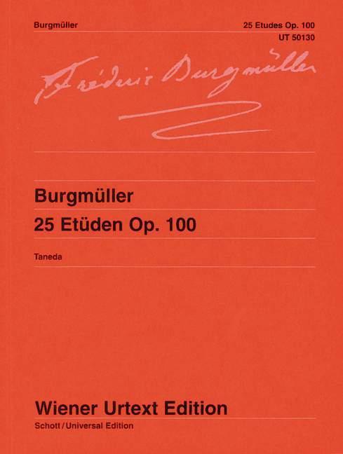 25 Etüden  op. 100 / Nach der Erstausgabe editiert  Naoyuki Taneda  Taschenbuch  Deutsch  1990 - Taneda, Naoyuki