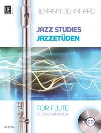 Jazzetüden  Listen, learn & play. für Flöte mit CD. Ausgabe mit CD.  Taschenbuch  Deutsch