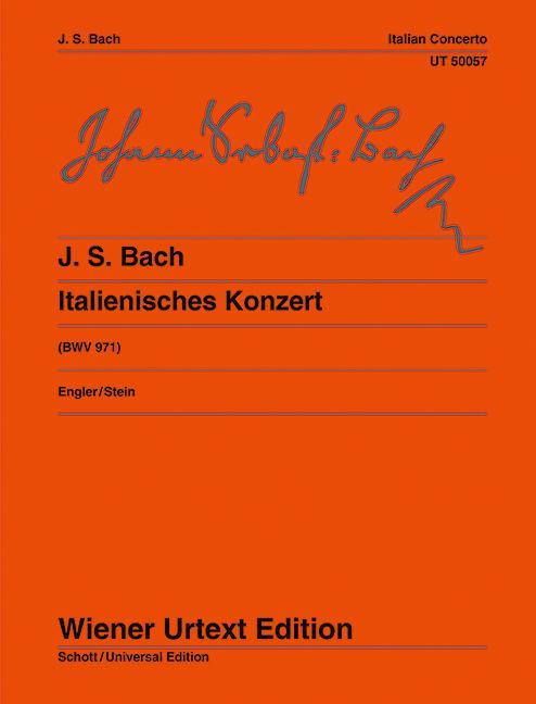 Italienisches Konzert  Klavierübung II/1. Nach Erstdrucken und Abschriften. BWV 971. Klavier.  Klaus Engler  Broschüre  Deutsch  1977 - Engler, Klaus